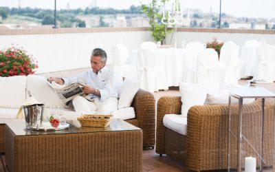 Sofa en terrasse