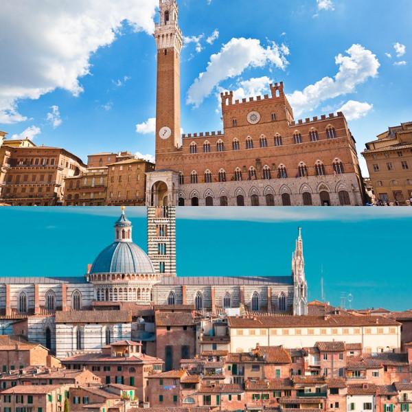Centro di Siena: Piazza del Campo e Duomo
